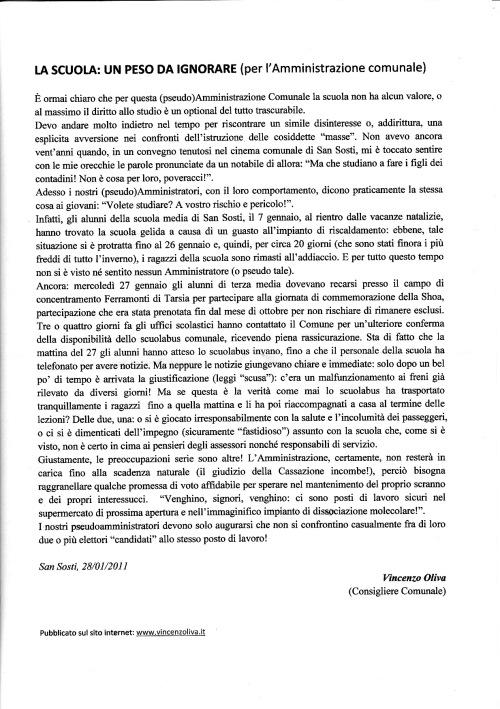 MANIFESTO CONSIGLIERE OLIVA - SAN SOSTI