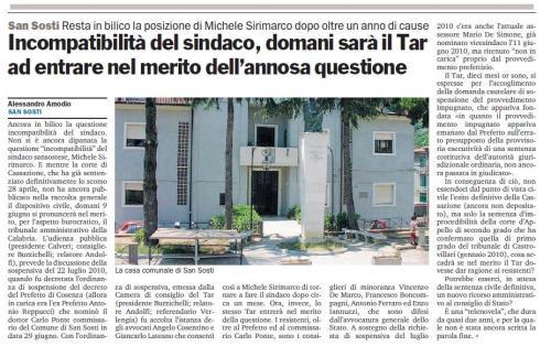 Articolo San Sosti 08-06-2011 - GoladelRosa.eu
