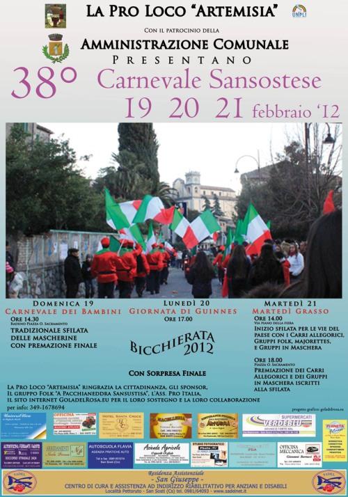 Manifesto 38° carnevale Sansostese
